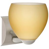 Besa Lighting 1WZ-4122VM-SN Bolla 1 Light 6 inch Satin Nickel Mini Sconce Wall Light in Incandescent Vanilla Matte Glass