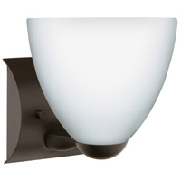 Besa Lighting 1WZ-757207-BR Sasha Ii 1 Light 6 inch Bronze Mini Sconce Wall Light in Incandescent Opal Matte Glass