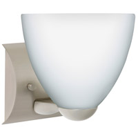 Besa Lighting 1WZ-757207-SN Sasha Ii 1 Light 6 inch Satin Nickel Mini Sconce Wall Light in Incandescent Opal Matte Glass