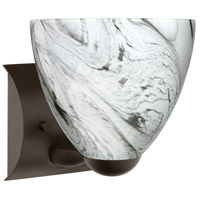 Besa Lighting 1WZ-7572MG-BR Sasha Ii 1 Light 6 inch Bronze Mini Sconce Wall Light in Incandescent Marble Grigio Glass