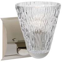 Besa Lighting 1WZ-NICO5CL-LED-CR Nico 5 LED 5 inch Chrome Mini Sconce Wall Light in Clear Stone Glass
