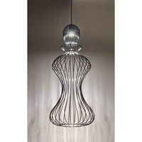 Zanda 1 Light Black Pendant Ceiling Light in Halogen