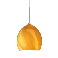 Besa Lighting 1XT-1716HN-SN Sprite 1 Light Satin Nickel Pendant Ceiling Light in Honey Glass Halogen