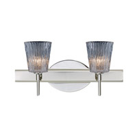 Besa Lighting Nico 2 Light 15 inch Chrome Vanity Wall Light in Clear Stone Glass Halogen
