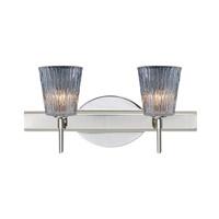 Besa Lighting Nico LED 15 inch Chrome Vanity Wall Light in Clear Stone Glass
