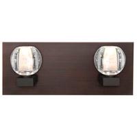 Besa Lighting 2WF-BOCABB-BR Boca 2 Light Bronze Vanity Light Wall Light