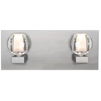 Besa Lighting 2WF-BOCABB-LED-SN Boca LED Satin Nickel Vanity Light Wall Light
