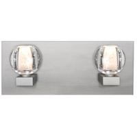 Besa Lighting 2WF-BOCABB-SN Boca 2 Light Satin Nickel Vanity Light Wall Light