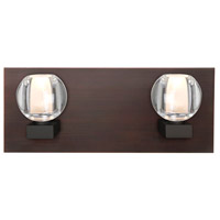 Besa Lighting 2WF-BOCACL-BR Boca 2 Light Bronze Vanity Light Wall Light