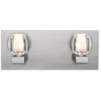 Besa Lighting 2WF-BOCACL-SN Boca 2 Light Satin Nickel Vanity Light Wall Light