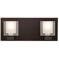 Besa Lighting 2WF-BOLOFR-BR Bolo 2 Light 14 inch Bronze Vanity Light Wall Light
