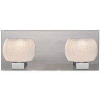 Besa Lighting 2WF-KENOWH-LED-SN Keno 2 Light Satin Nickel Vanity Light Wall Light