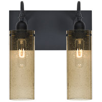 Besa Lighting Juni 10 2 Light Vanity in Black 2WG-JUNI10LT-BK