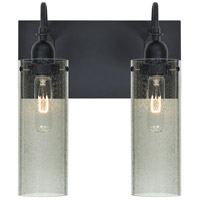 Besa Lighting Juni 10 2 Light Vanity in Black 2WG-JUNI10MS-BK