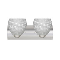 Besa Lighting 2WZ-412260-LED-SN Bolla LED 22 inch Satin Nickel Vanity Wall Light in Cocoon Glass