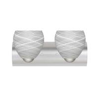 Besa Lighting 2WZ-412260-SN Bolla 2 Light 22 inch Satin Nickel Vanity Wall Light in Cocoon Glass Incandescent