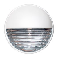 Costaluz 3019 Series 1 Light 9 inch White Outdoor Sconce in Clear Glass