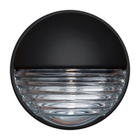 Costaluz 3019 Series 1 Light 9 inch Black Outdoor Sconce in Clear Glass