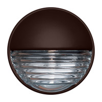 Costaluz 3019 Series 1 Light 9 inch Bronze Outdoor Sconce in Clear Glass