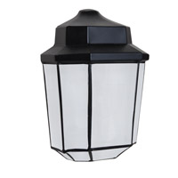 3028 Series 1 Light 10 inch Black Outdoor Sconce, Costaluz
