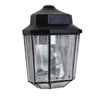 Costaluz 3028 Series 1 Light 10 inch Black Outdoor Sconce in Clear Glass