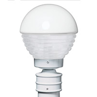 3061 Series 1 Light 13 inch White Outdoor Post Mount in Frost Glass, Costaluz