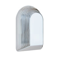 Costaluz 3062 Series 1 Light 10 inch White Outdoor Sconce in Clear Glass