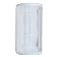 3079 Series 1 Light 10 inch White Outdoor Sconce, Costaluz