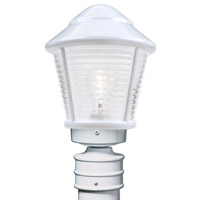 Costaluz 3100 Series 1 Light 14 inch White Post Mount in Frost Glass