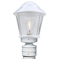 Costaluz 3100 Series 1 Light 14 inch White Post Mount in Clear Glass