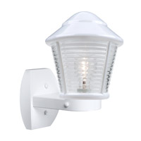 Costaluz 3100 Series 1 Light 12 inch White Outdoor Sconce in Clear Glass
