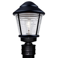 Costaluz 3100 Series 1 Light 14 inch Black Post Mount in Clear Glass