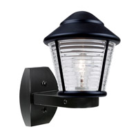 Costaluz 3100 Series 1 Light 12 inch Black Outdoor Sconce in Clear Glass