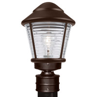 Costaluz 3100 Series 1 Light 14 inch Bronze Post Mount in Clear Glass