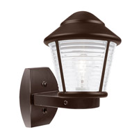 Costaluz 3100 Series 1 Light 12 inch Bronze Outdoor Sconce in Frost Glass