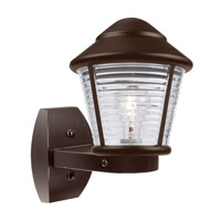 Costaluz 3100 Series 1 Light 12 inch Bronze Outdoor Sconce in Clear Glass