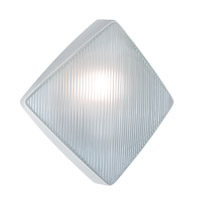 Costaluz 3110 Series 1 Light 11 inch White Outdoor Sconce in Frost Glass