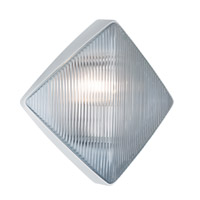 Costaluz 3110 Series 1 Light 11 inch White Outdoor Sconce in Clear Glass