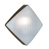 Costaluz 3110 Series 1 Light 11 inch Bronze Outdoor Sconce in Frost Glass