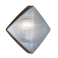 Costaluz 3110 Series 1 Light 11 inch Bronze Outdoor Sconce in Clear Glass