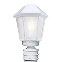 Besa Lighting 327253-POST-FR 3272 Series 1 Light 14 inch White Outdoor Post Mount Costaluz