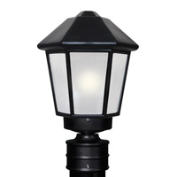 Besa Lighting 327257-POST-FR 3272 Series 1 Light 14 inch Black Outdoor Post Mount Costaluz