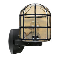 3417 Series 1 Light 12 inch Black Outdoor Sconce, Costaluz