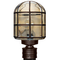 Besa Costaluz 3417 Series 1 Light Post Mount in Bronze with Clear Glass 341797-POST