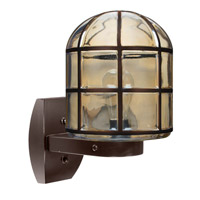 3417 Series 1 Light 12 inch Bronze Outdoor Sconce, Costaluz