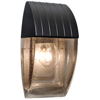 3532 Series 1 Light 10 inch Outdoor Sconce in Black with Smoke Bubble Glass, Costaluz