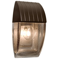 3532 Series 1 Light 10 inch Outdoor Sconce in Bronze with Smoke Bubble Glass, Costaluz