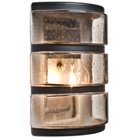 3534 Series 1 Light 9 inch Outdoor Sconce in Black with Smoke Bubble Glass, Costaluz
