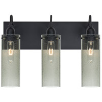 Besa Lighting Juni 10 3 Light Vanity in Black 3WG-JUNI10MS-BK