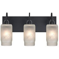 Besa Lighting Milo 4 3 Light Vanity in Black 3WG-MILO4WF-BK